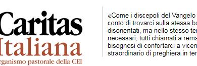 CARITAS DIOCESANA  CHIETI-VASTO  COMUNICATO STAMPA